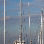 image of boats and masts in Troon yacht haven
